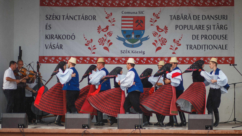 Szék Festival Dancers on a Stage