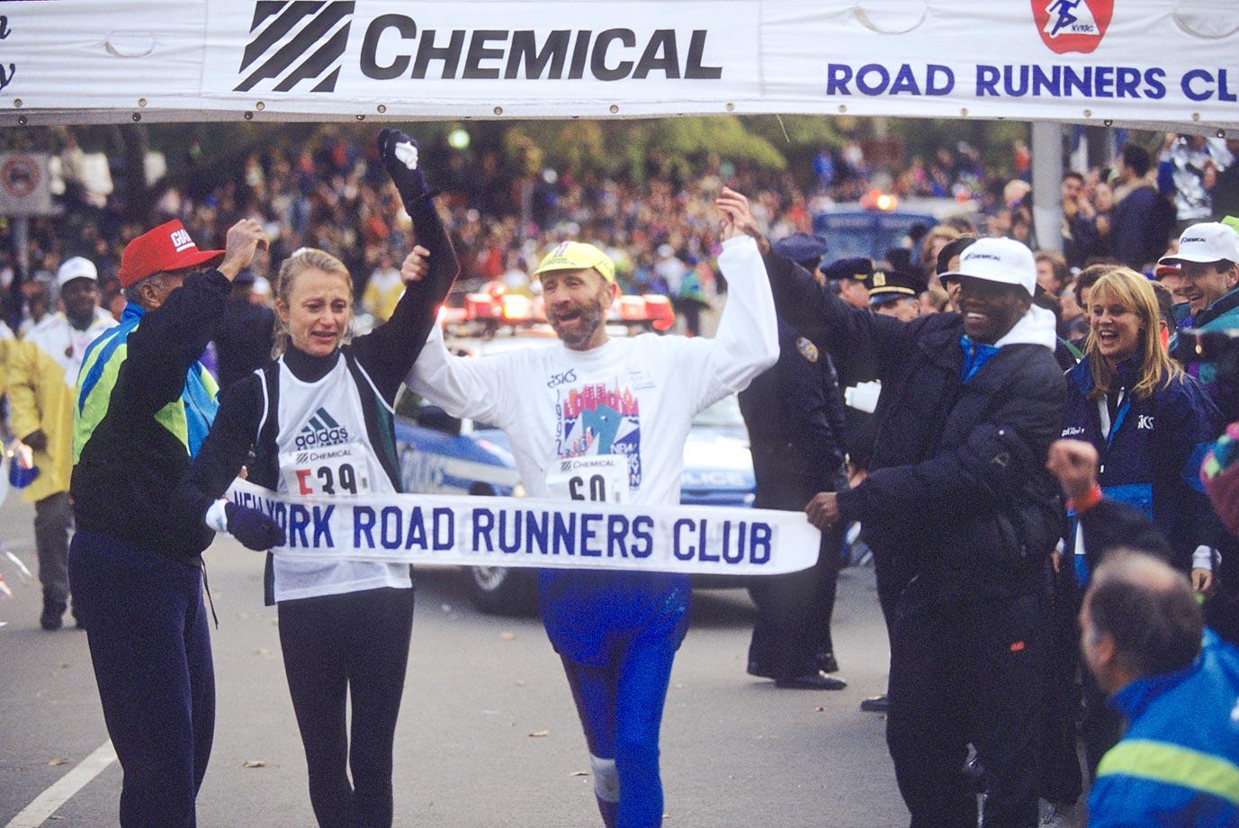 Fred Lebow Finishing New York City Marathon