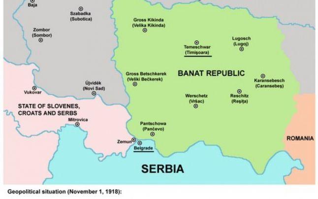 Map of the Bánát Republic