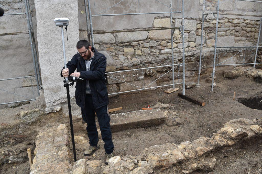 Archeologist Zsolt Csók