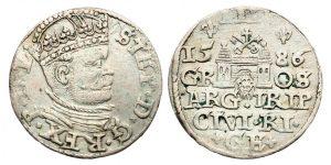 Grand Duke Báthory On The 1586 Lithuanian 3 Groschen