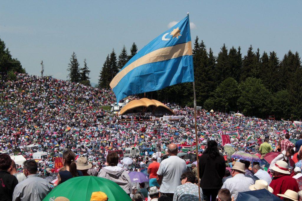 Flags in Transylvania