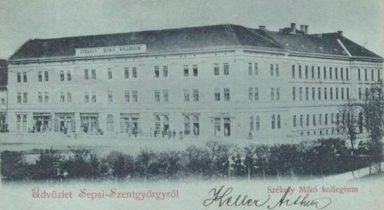 College on a pre-WWI postcard