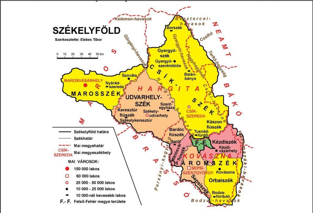 Map of Szeklerland