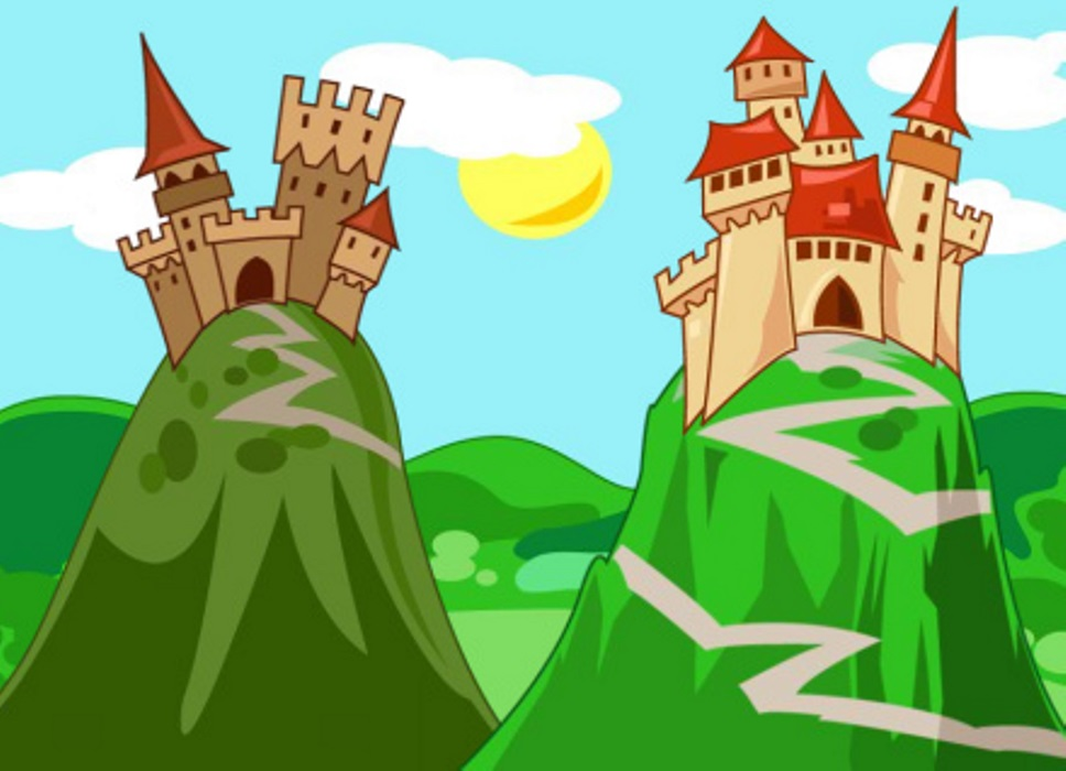 The castles of the two evil brothers
