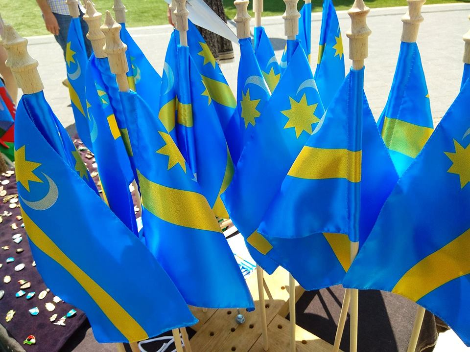 Székely flags at the festival