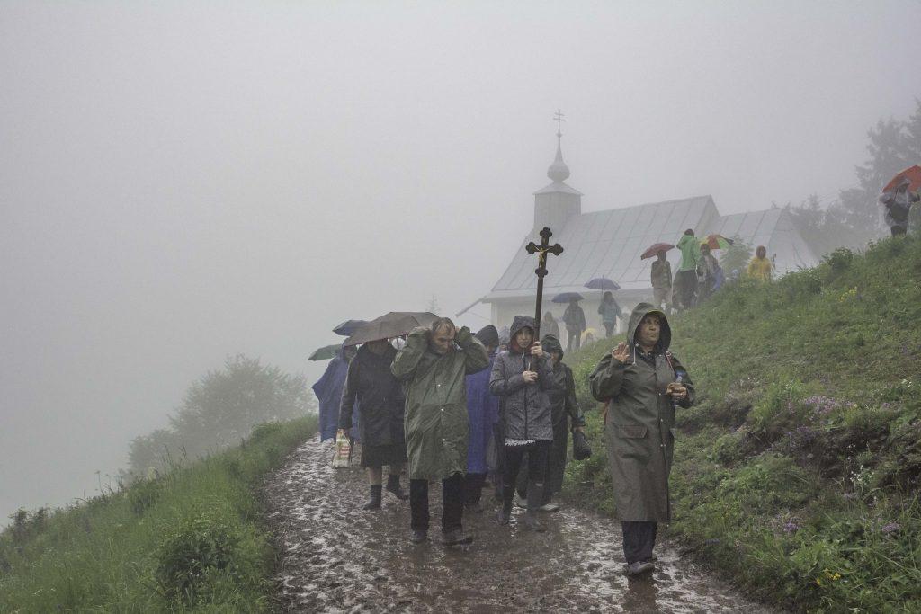 Pilgrims in Rain