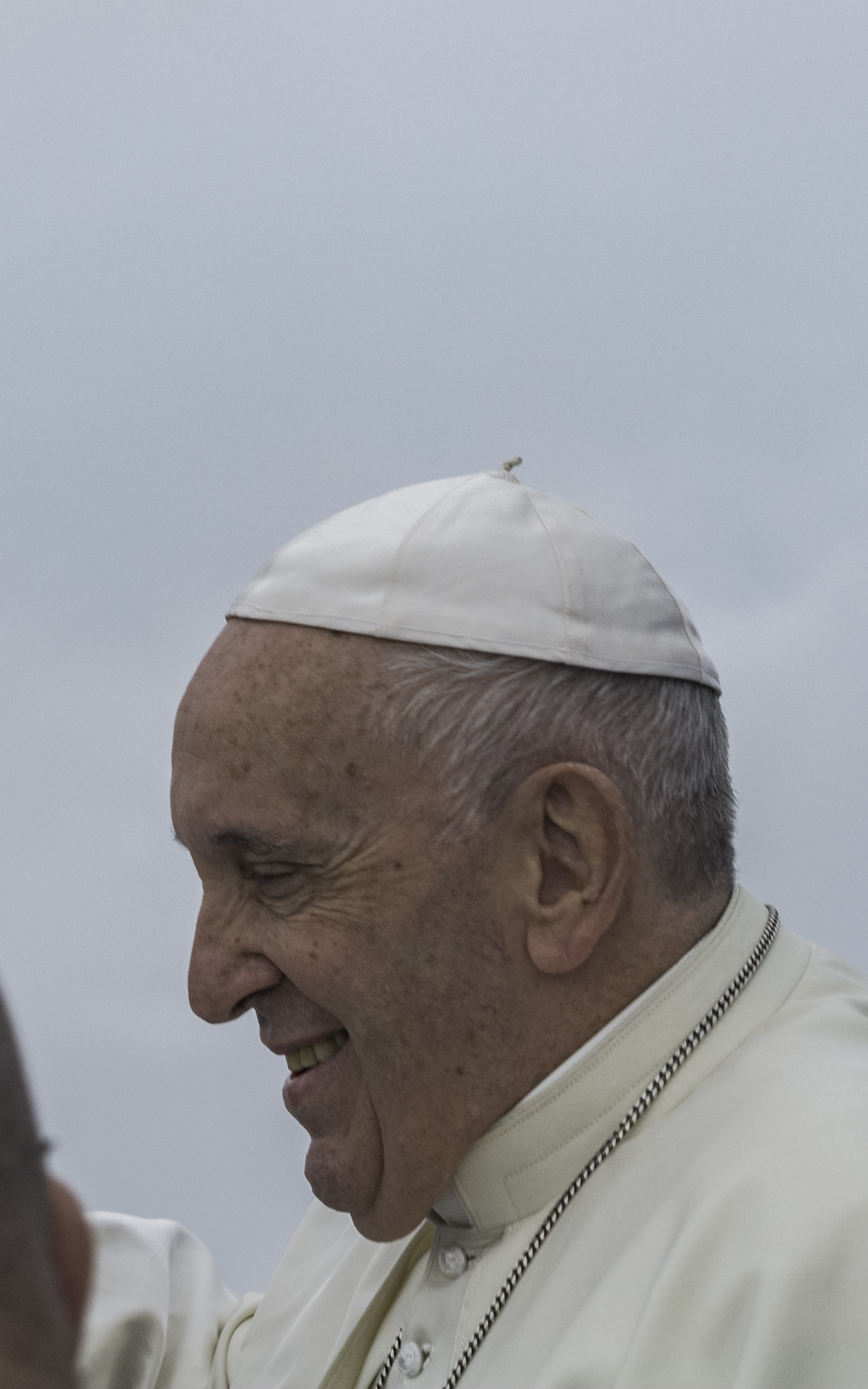 Pope Francis has arrived