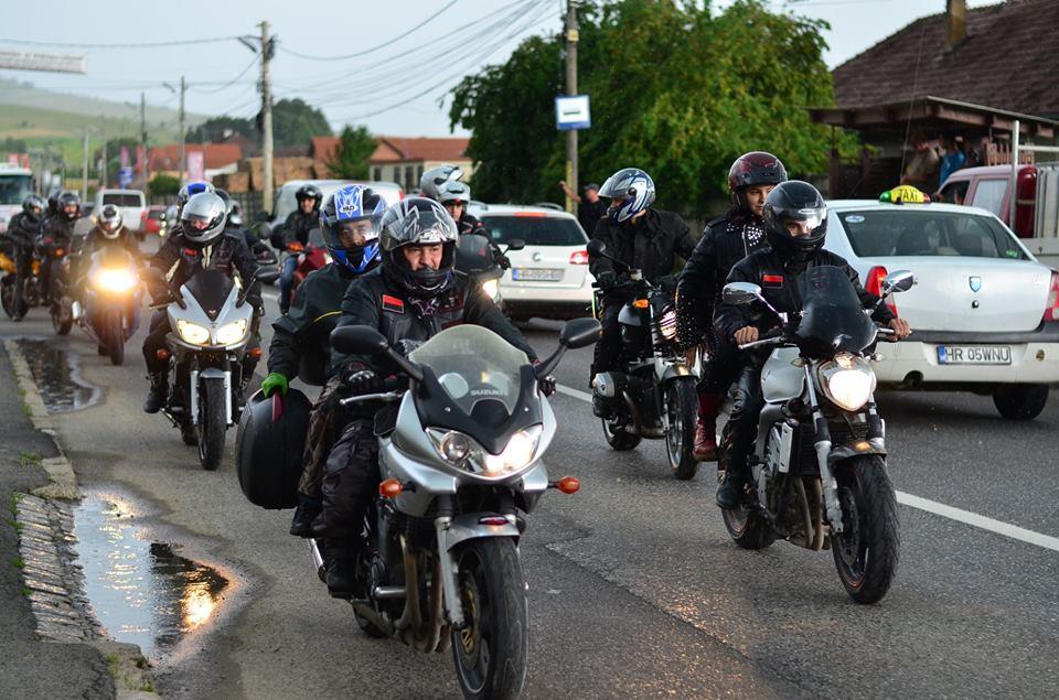 biker parade in Transylvania