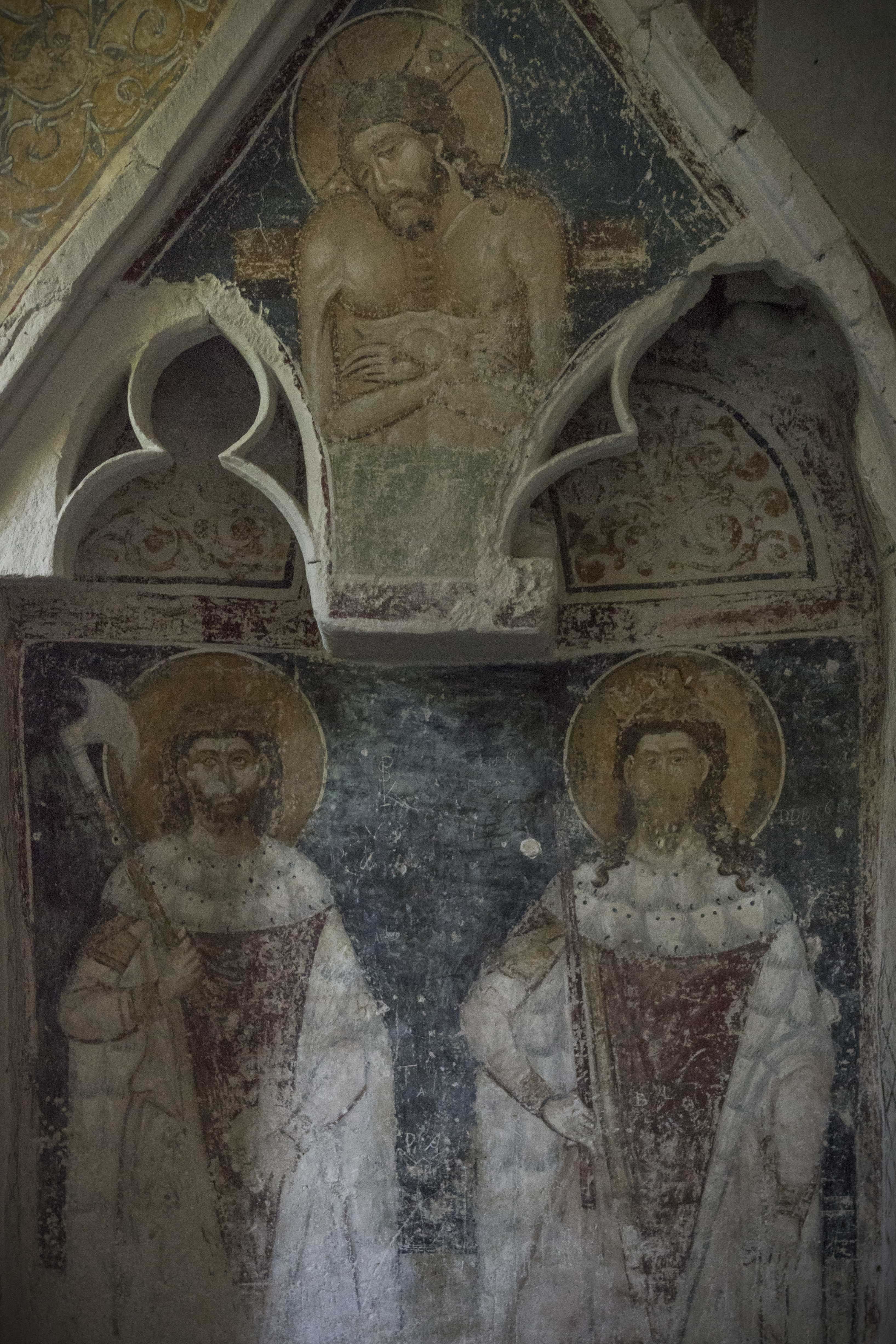 Mural with King Saint Stephen