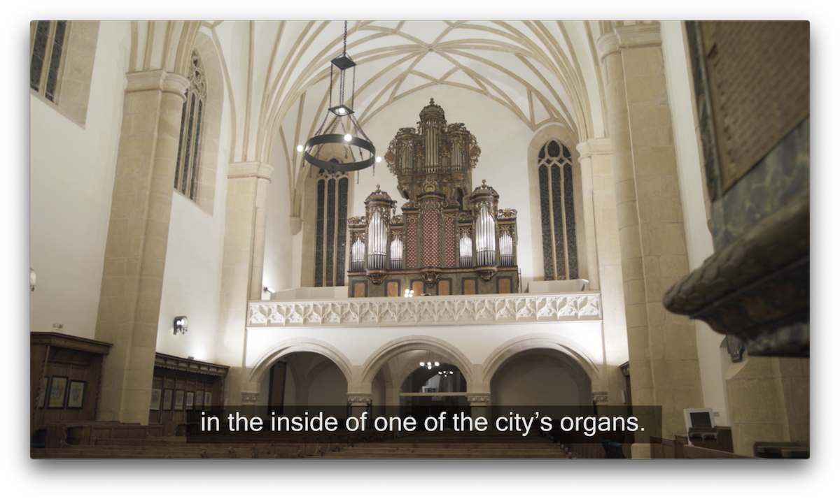 Guided tour inside… a pipe organ!