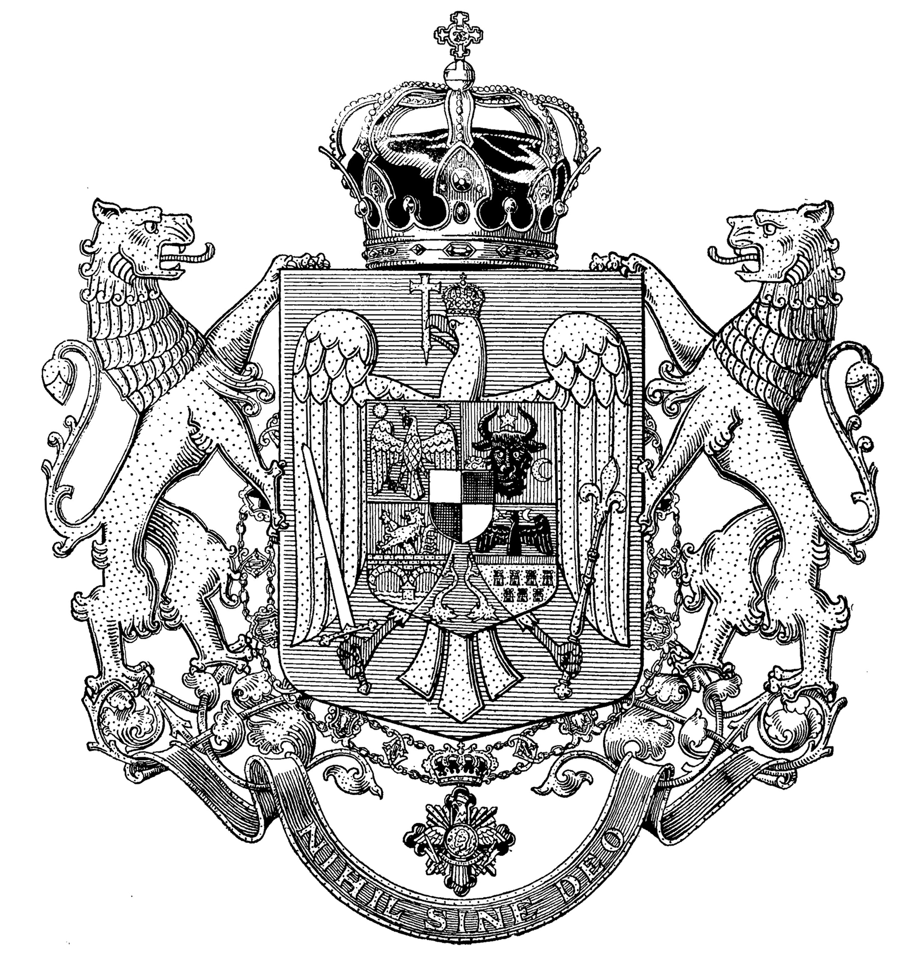 Middle Coat of Arms of Romania
