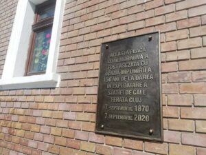 Memorial tablet in Romanian