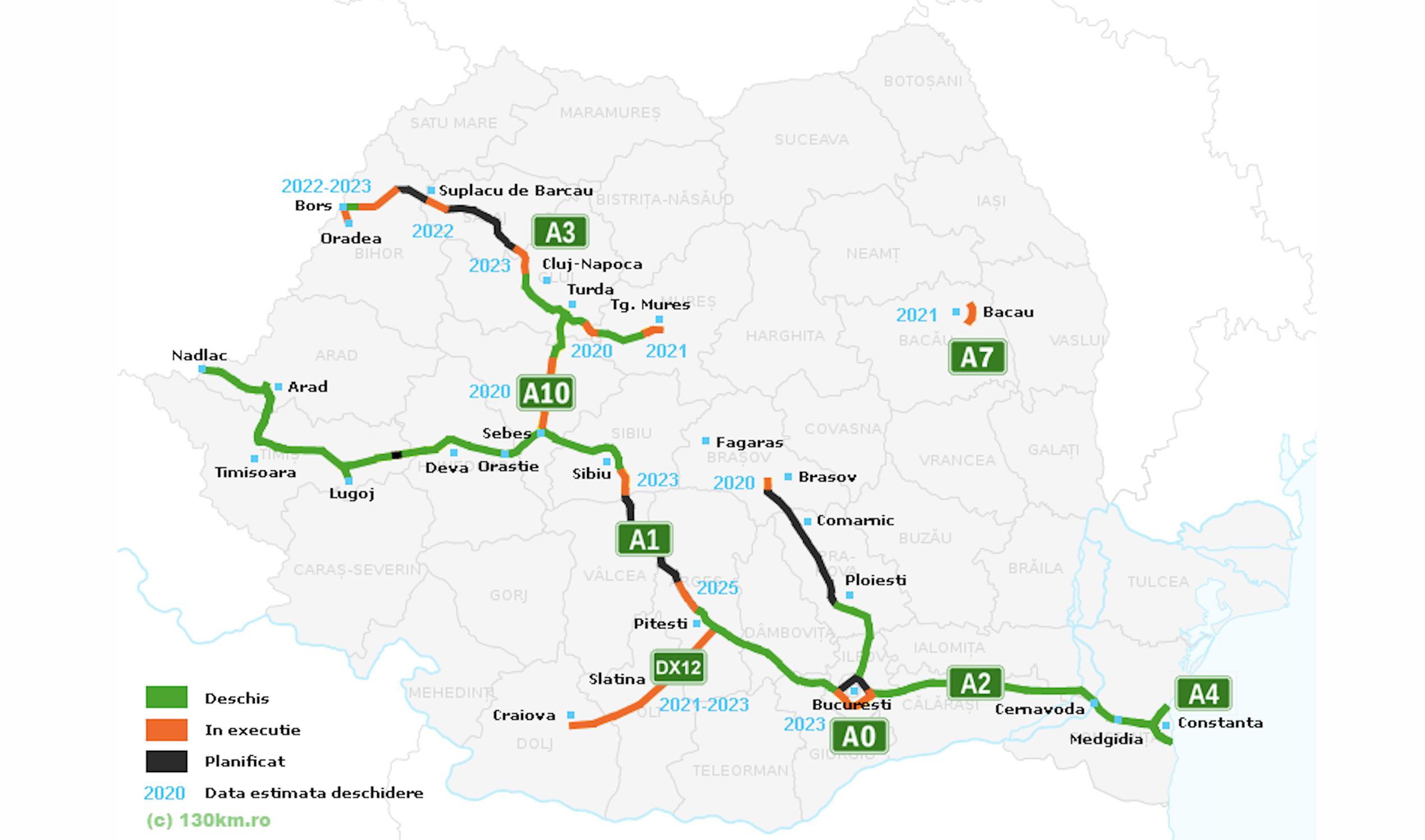 Romanian motorway