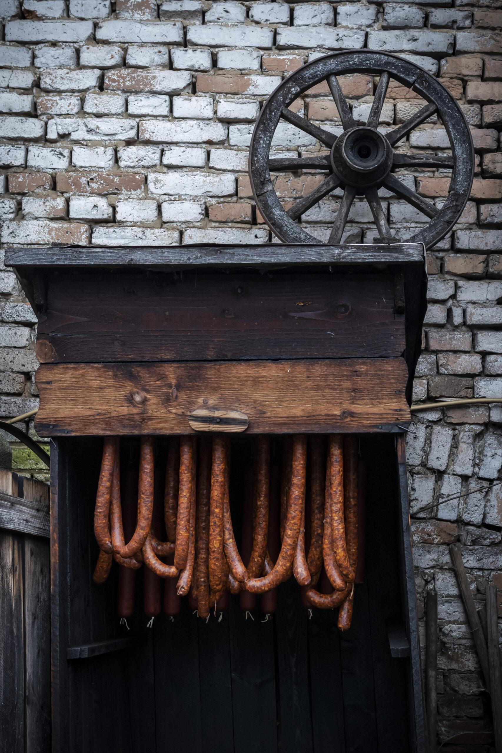 Pig sausages