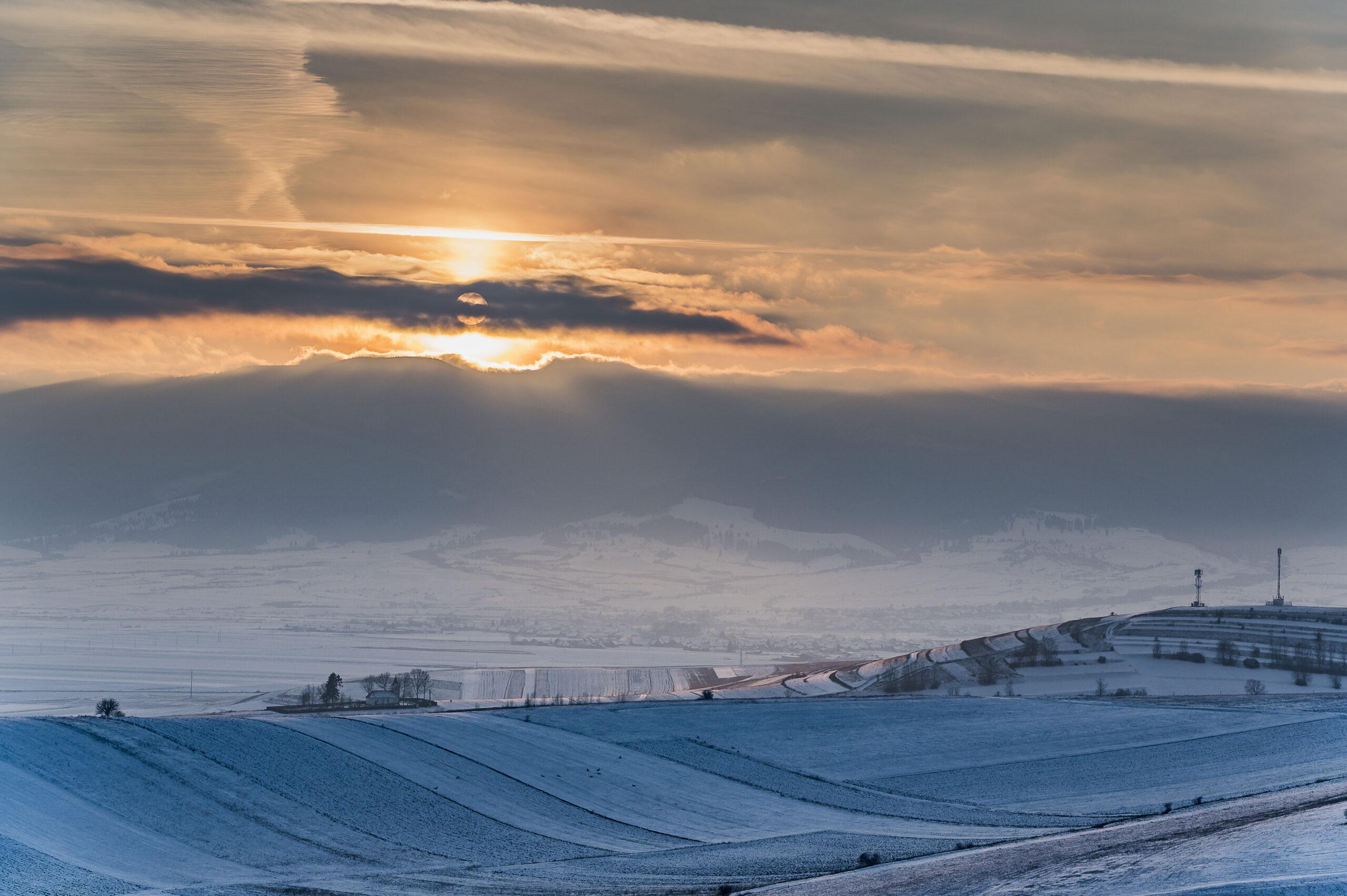 Sunset on Harghita mountain